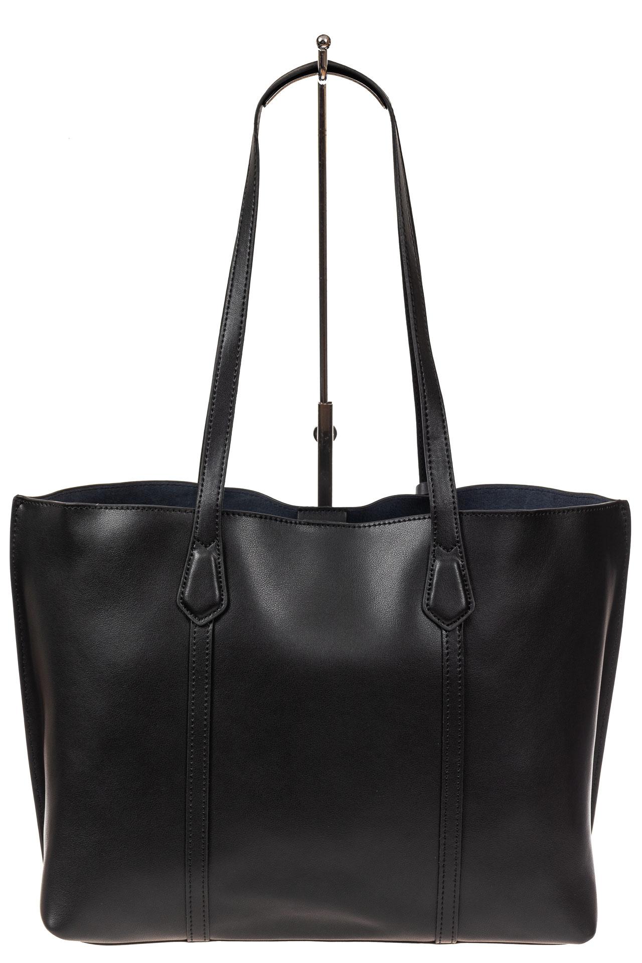 На фото 3 - Женский кожаный тоут, цвет чёрный