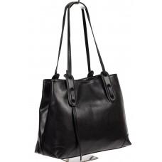 На фото 1 - Женская сумка oversize из мягкой натуральной кожи, цвет чёрный