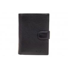 На фото 1 - Мужское портмоне (кошелек) из кожи, цвет черный. От производителя