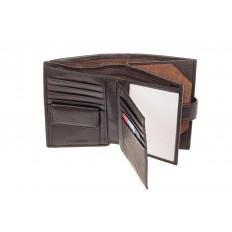 На фото 2 - Мужское портмоне (кошелек) из кожи, цвет коричневый