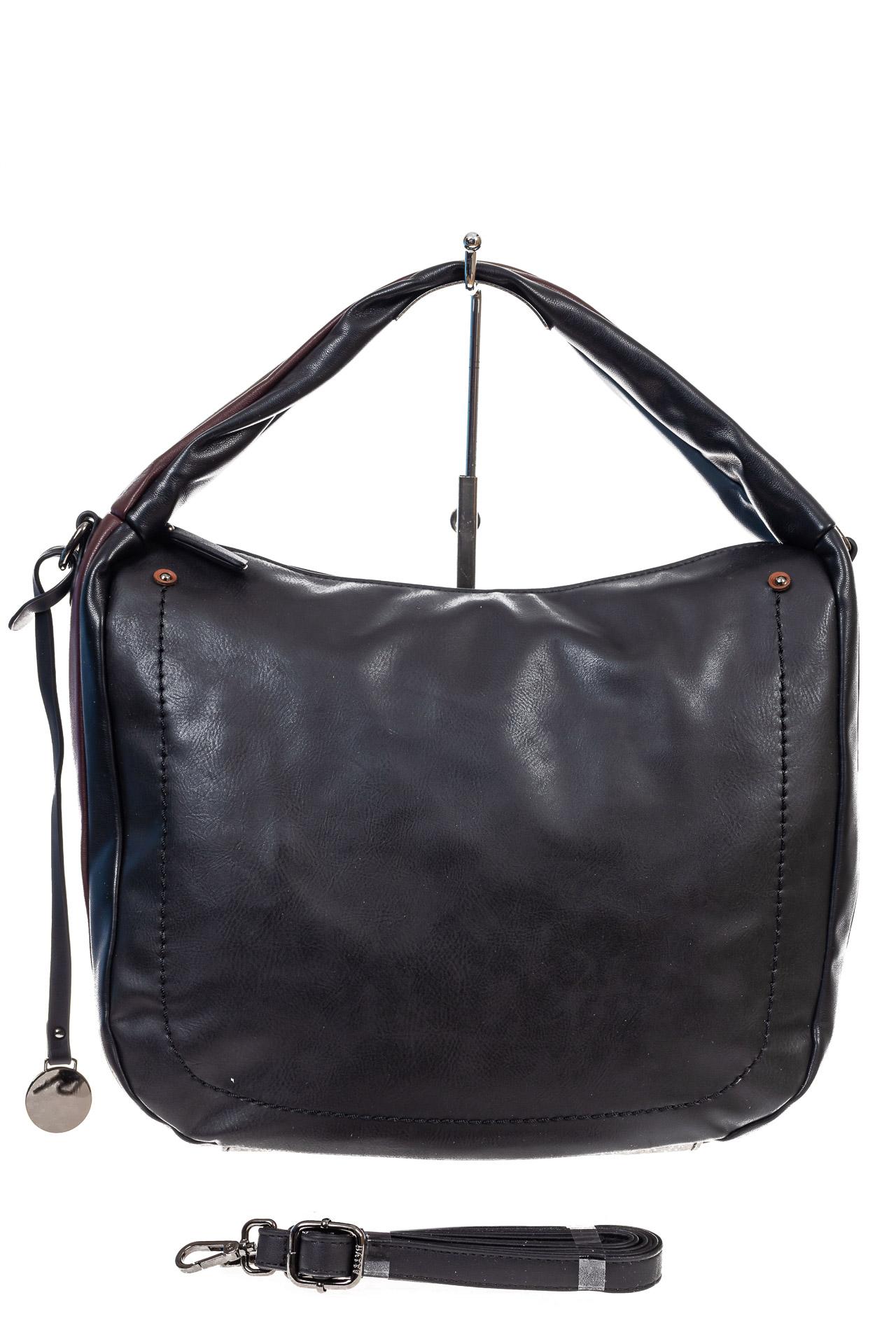 На фото 2 - Женская сумка хобо из гладкой экокожи, цвет мультицвет