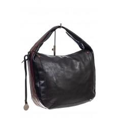 На фото 3 - Женская сумка хобо из гладкой экокожи, цвет мультицвет