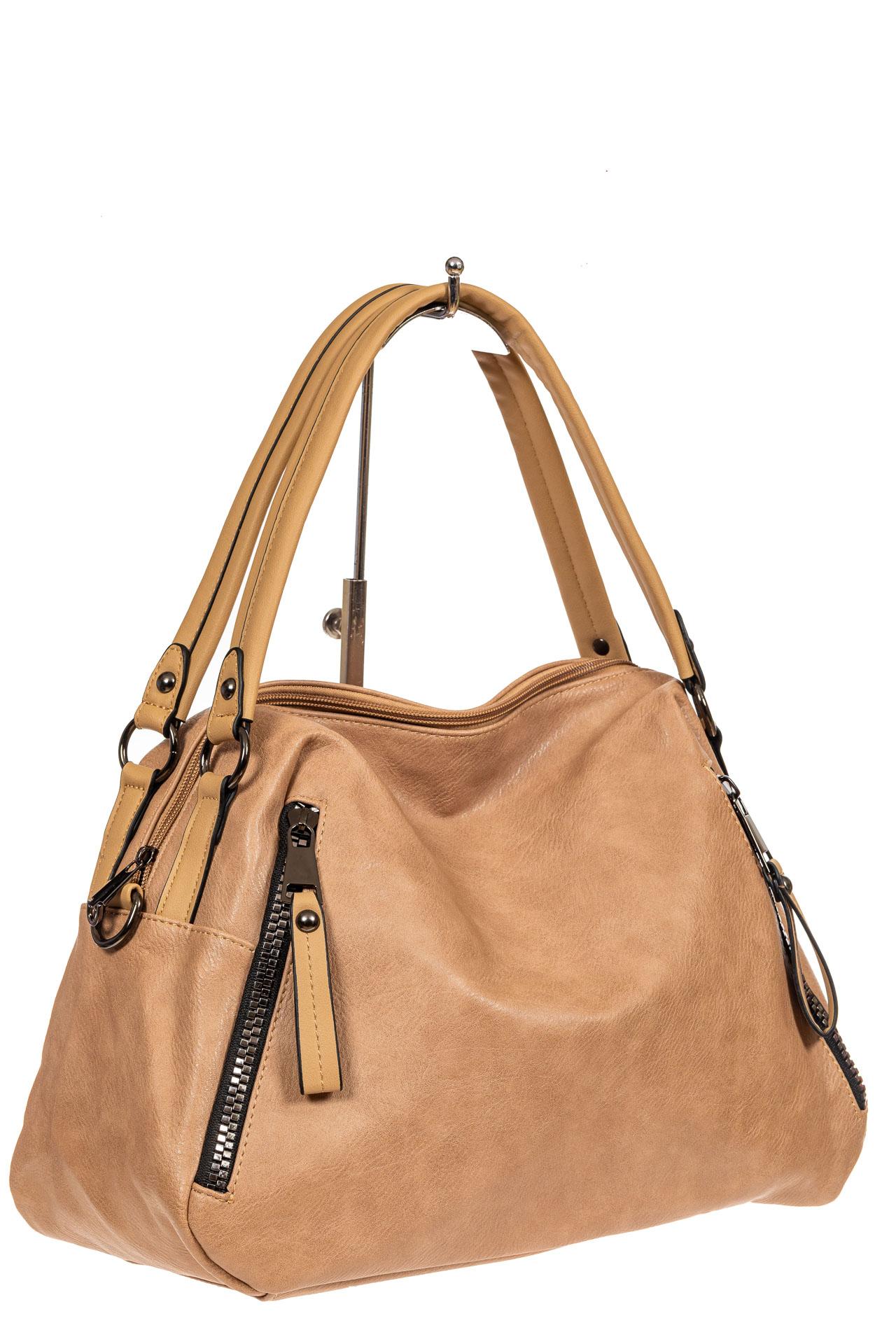 Большая сумка из искусственной кожи, цвет бежевый2041PTS0920/10