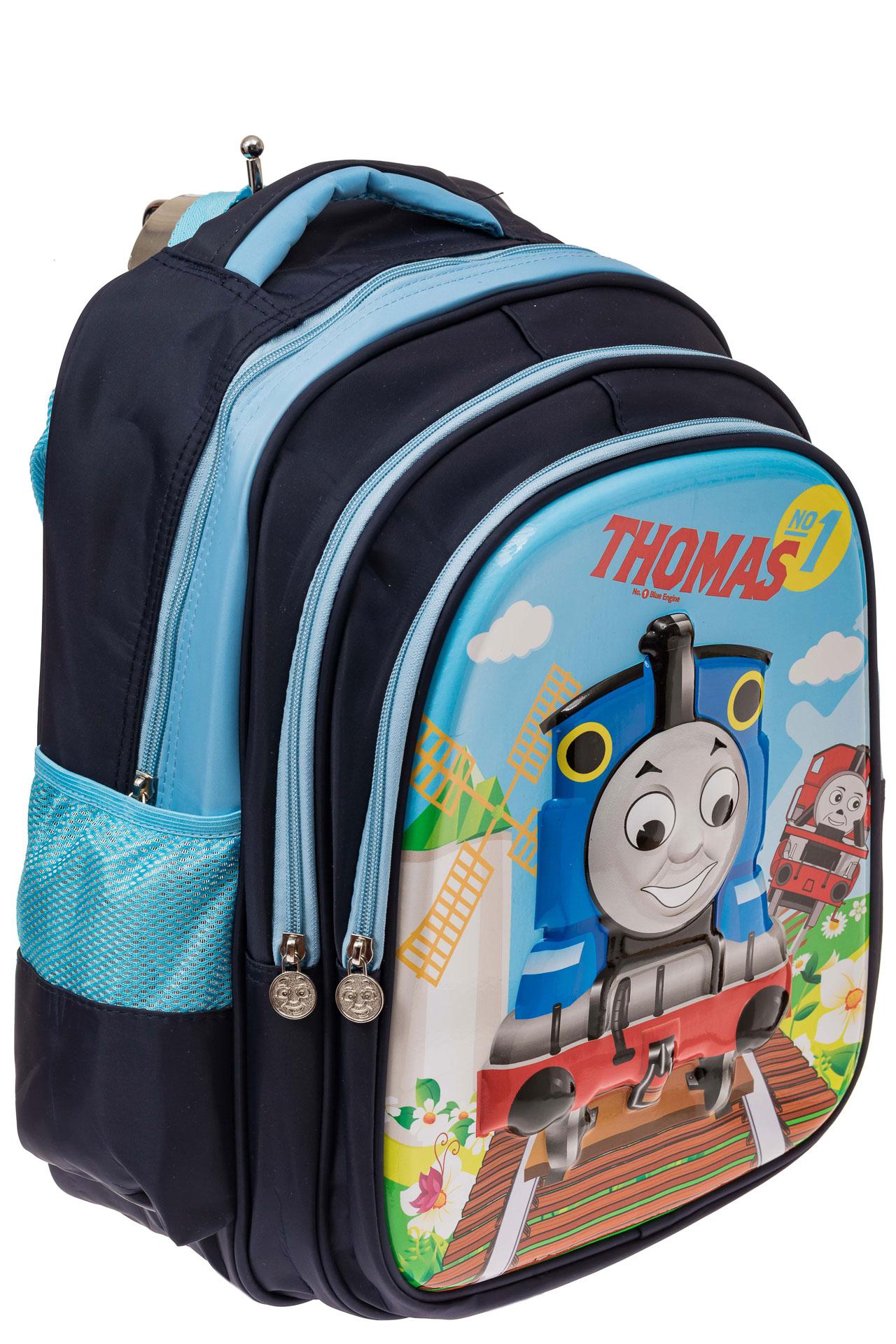 На фото 1 - Школьный рюкзак для детей, цвет синий