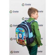 На фото 4 - Школьный рюкзак для детей, цвет синий
