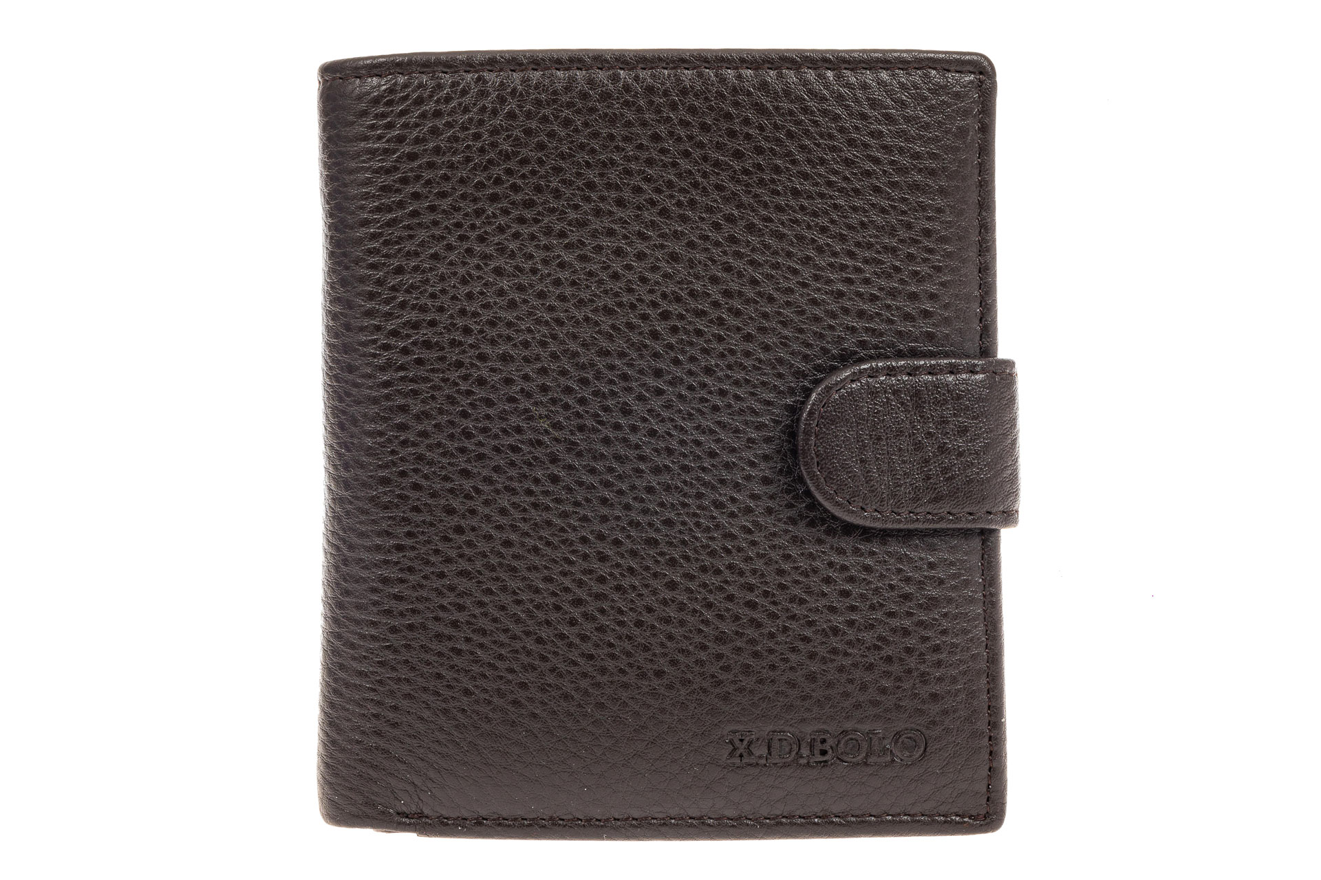 На фото 1 - Мужское портмоне из натуральной кожи, цвет коричневый