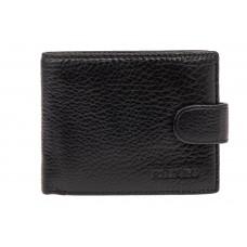 На фото 1 - Мужское кожаное портмоне, цвет черный