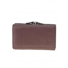 На фото 1 - Женский кожаный кошелёк с фермуаром, цвет пыльная роза