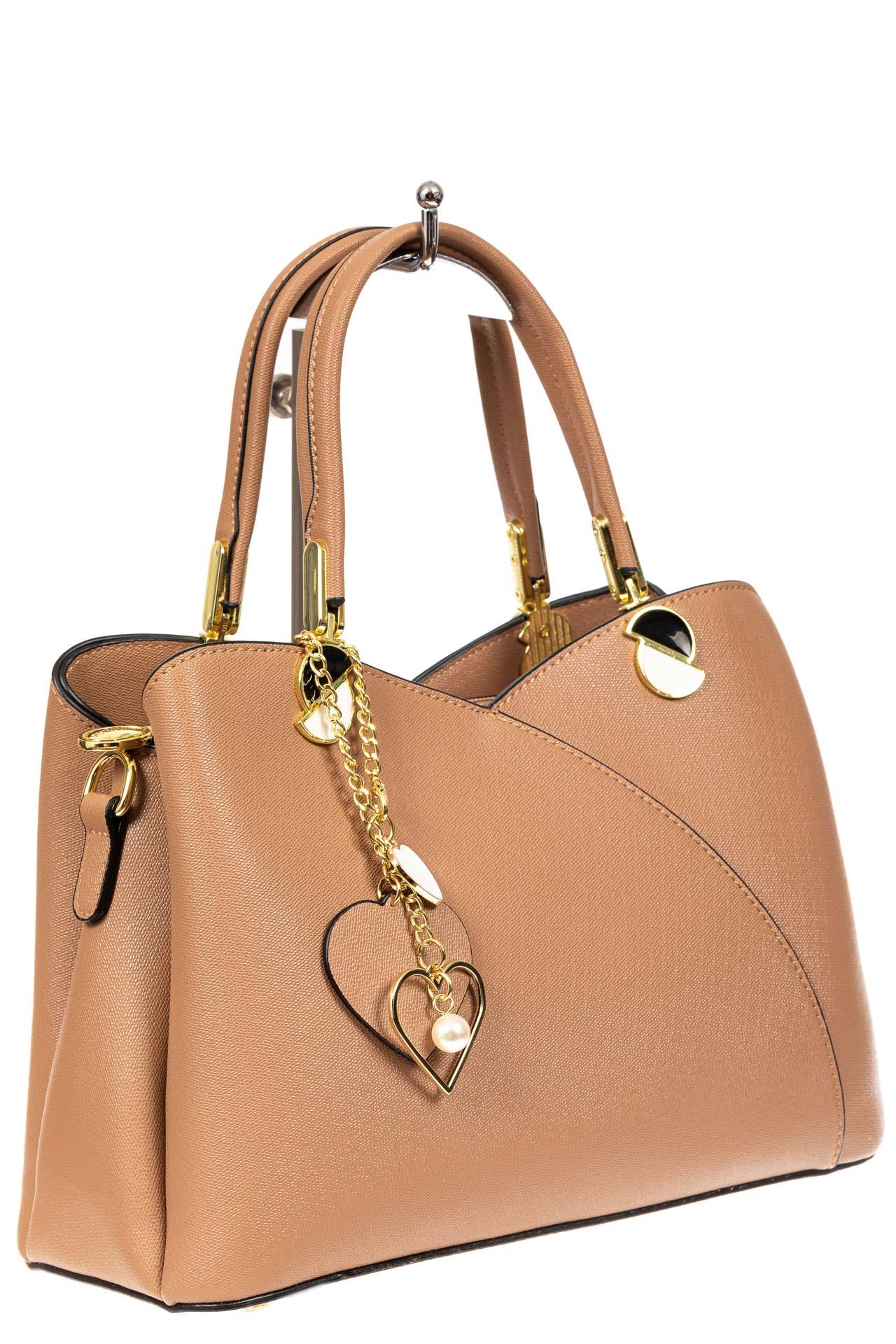 Женская сумка тоут из экокожи, цвет бежевый2049PJ0420/10