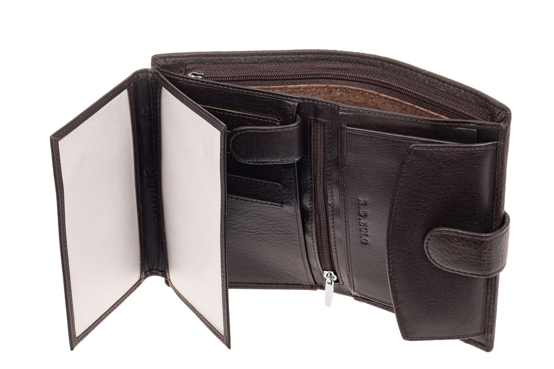 На фото 2 - Мужское портмоне из натуральной кожи, цвет коричневый