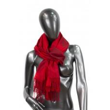 На фото 1 - Шарф-палантин из кашемира в листочках, цвет красный