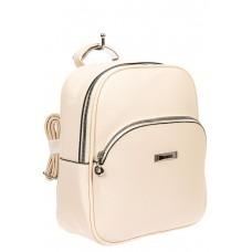 На фото 1 - Женский рюкзак из фактурной экокожи, цвет белый