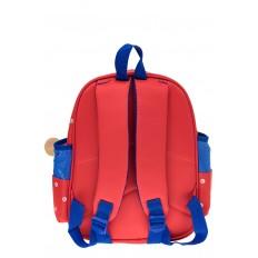 На фото 2 - Детский рюкзак самолетик, цвет красный