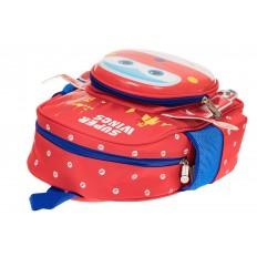 На фото 3 - Детский рюкзак самолетик, цвет красный