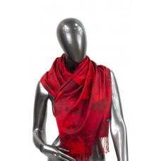 На фото 1 - Шарф-палантин из кашемира, цвет тёмно-красный