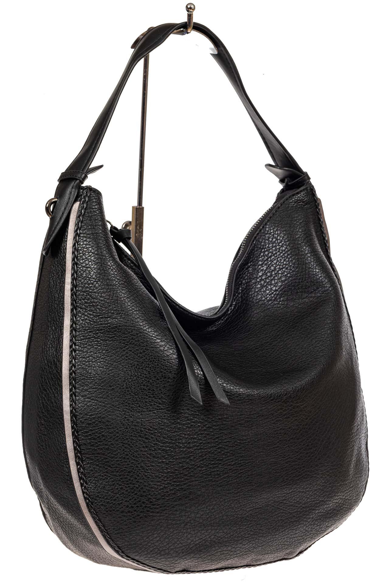 Большая сумка шоппер из искусственной кожи, цвет черный2062PTS0920/1