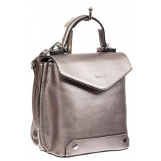На фото 1 - Сумка-рюкзак трансформер из эко-кожи, цвет бронза