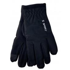 На фото 1 -  Утепленные перчатки мужские , цвет черный