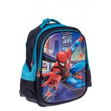 На фото 1 - Школьный рюкзак с 3D принтом, цвет голубой