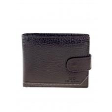 На фото 1 - Кошелёк-портмоне мужской из фактурной искусственной кожи, цвет коричневый