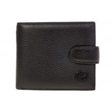На фото 1 - Мужской кошелек из натуральной кожи черного цвета