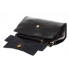 На фото 4 - Женская сумка-портфель из натуральной кожи, цвет черный