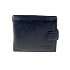 На фото 1 - Мужской чёрный кошелёк-портмоне из натуральной кожи