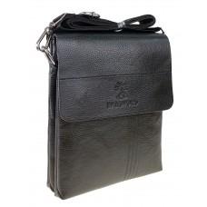 На фото 1 - Мужская сумка планшет из фактурной экокожи, цвет чёрный