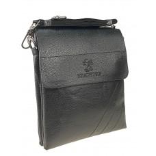 На фото 1 - Сумка-планшет из искусственной кожи для мужчин, цвет чёрный
