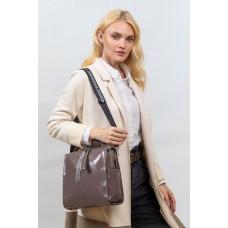 На фото 1 - Молодёжная сумка из искусственной кожи, цвет пудра