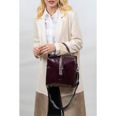 На фото 1 - Молодёжная сумка из искусственной кожи, цвет вишня