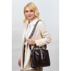 На фото 1 - Молодёжная сумка из искусственной кожи, цвет шоколад