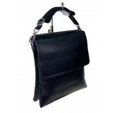 На фото 1 - Небольшая сумка-планшет для мужчин из искусственной кожи, цвет чёрный