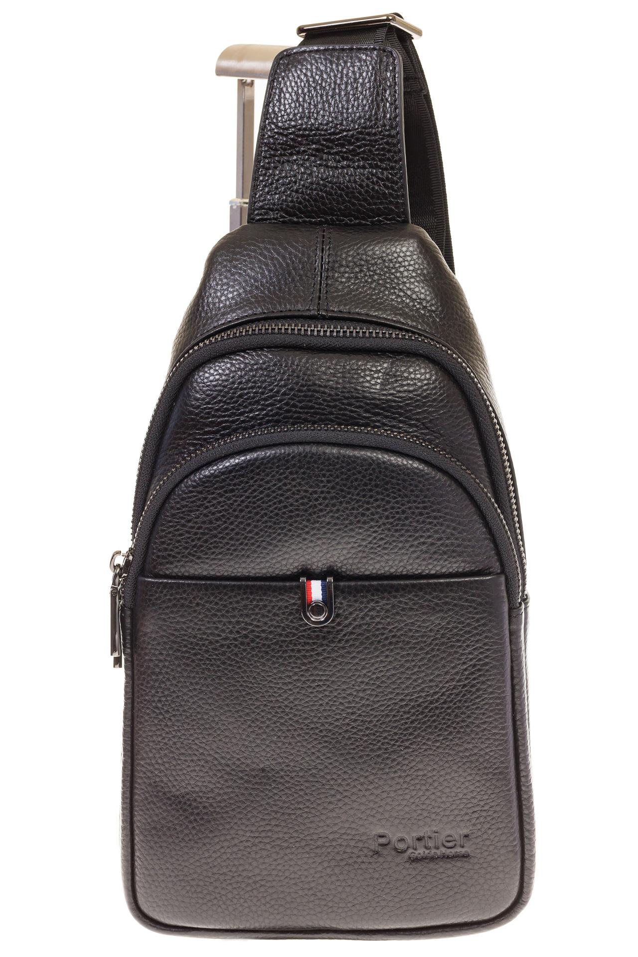 На фото 2 - Строгий sling bag из натуральной кожи 2111MM5