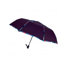 На фото 1 - Зонт женский полуавтомат с цветными вставками, цвет фиолетовый