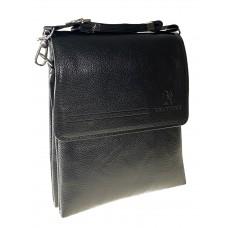 На фото 1 - Сумка-планшет из искусственной кожи для мужчин через плечо, цвет чёрный