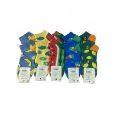На фото 1 - Женские носки с ярким принтом, 10 пар