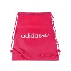 На фото 1 - Мешок для сменной обуви с принтом, цвет розовый