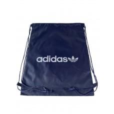 На фото 1 - Мешок для школьной обуви с ярким принтом, цвет темно-синий