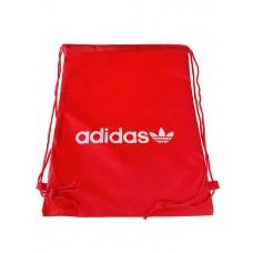 На фото 1 - Мешок для школьной обуви с ярким принтом, цвет красный