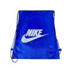 На фото 1 - Мешок для сменной обуви с принтом, цвет голубой