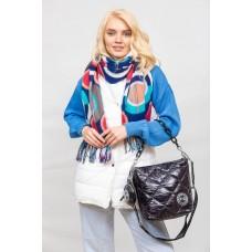 На фото 1 - Молодёжная стёганая сумка, цвет черный