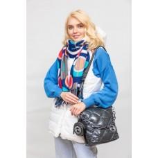 На фото 1 - Молодёжная стёганая сумка, цвет графитовый