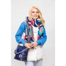 На фото 1 - Молодёжная стёганая сумка, цвет синий