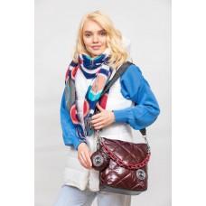 На фото 1 - Молодёжная стёганая сумка, цвет бордовый
