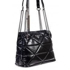 На фото 3 - Молодежная сумка из искусственной кожи,  цвет черный