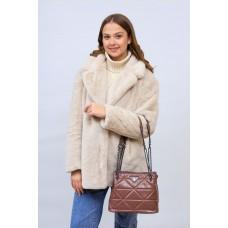 На фото 1 - Молодежная сумка из искусственной кожи,  цвет пудра