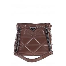 На фото 2 - Молодежная сумка из искусственной кожи,  цвет пудра