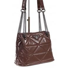 На фото 3 - Молодежная сумка из искусственной кожи,  цвет пудра