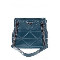 На фото 2 - Молодежная сумка из искусственной кожи,  цвет бирюза